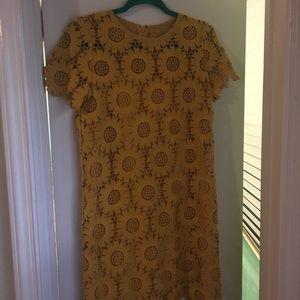 Yellow sunflower dress by Ann Taylor